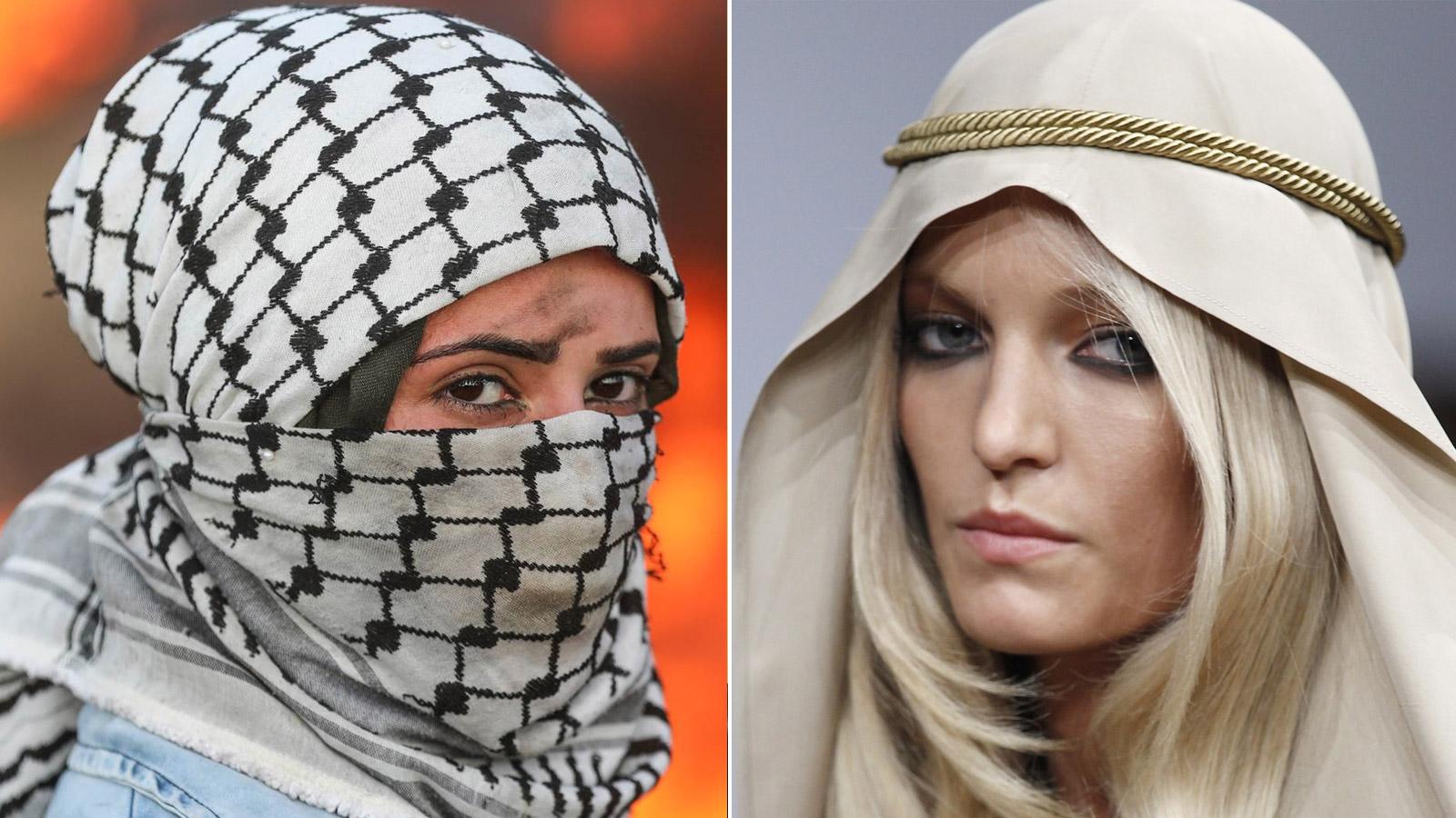 دد من دور عرض الأزياء بدأت تستلهم الكوفية التي تعتبر من رموز الكفاح الفلسطيني