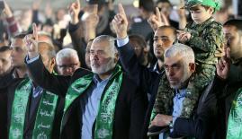 قادة حركة حماس في حفل تأبين القائد مازن فقها في غزة
