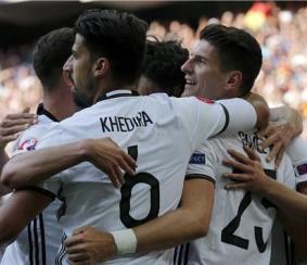 فرحة لاعبي ألمانيا بالفوز