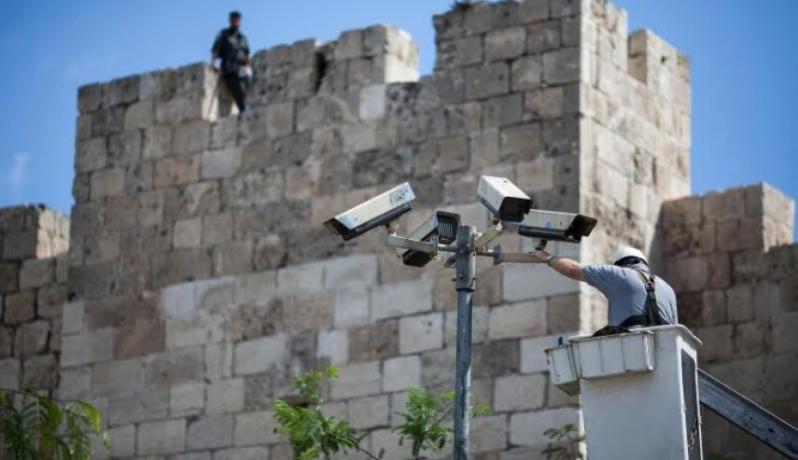 خلال تركيب الاحتلال كاميرات مراقبة