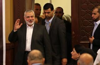 صورة لوفد حماس في القاهرة