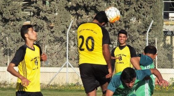 جانب من مباراة اتحاد دير البلح وشباب معن
