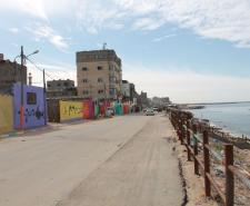 منازل مخيم الشاطئ تتزين بالألوان