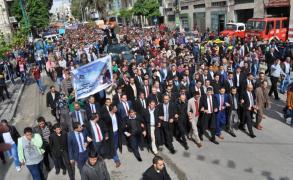 """مسيرة تطالب باسترداد جثمان  الشهيدة """"عويصي""""في قلقيلية"""