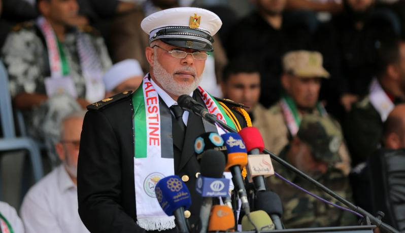 خلال كلمة اللواء توفيق أبو نعيم وكيل وزارة الداخلية والأمن الوطني في غزة