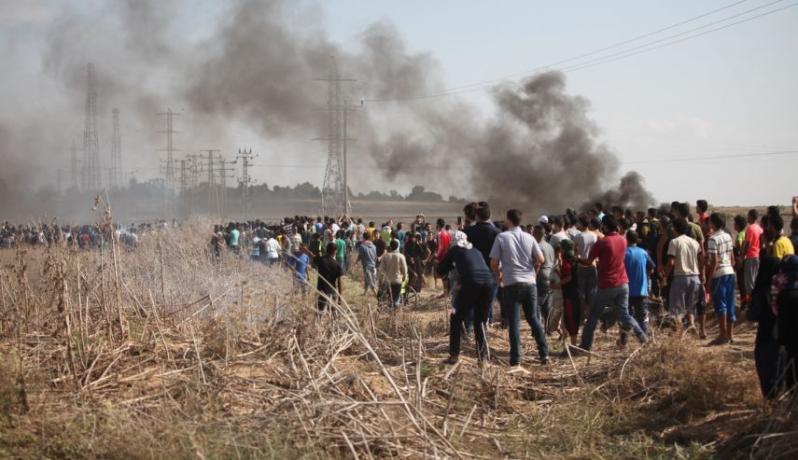 مسيرات على حدود غزة