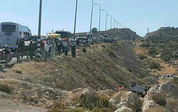 وفاة 3 مواطنين واصابة آخرين بحادث سير شرق رام الله