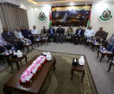 لقاء بين قيادة حركة حماس في غزة وقيادة الفصائل الوطنية (تصوير/عمر الإفرنجي)