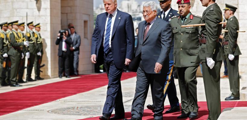 رئيس السلطة محمود عباس يستقبل الرئيس الأمريكي في بيت لحم