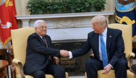 خلال لقاء عباس وترامب