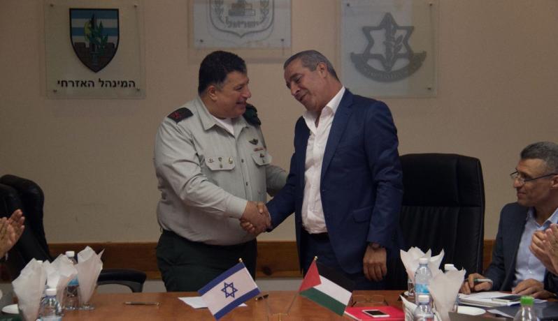 حسين الشيخ وزير الشؤون المدنية ومردخاي