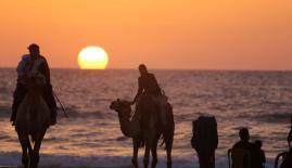 شاطئ بحر غزة