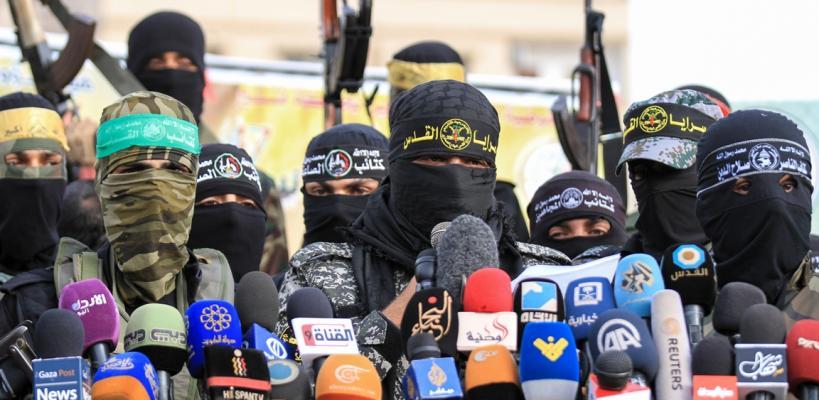 مؤتمر صحفي للأجنحة العسكرية في قطاع غزة