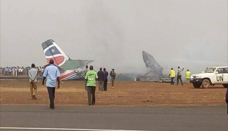 تحطم الطائرة جنوب السودان