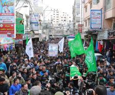 تشييع جثمان القسامي عصام الأغا من خان يونس