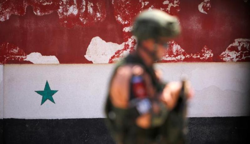 جندي روسي في مدينة حمص السورية