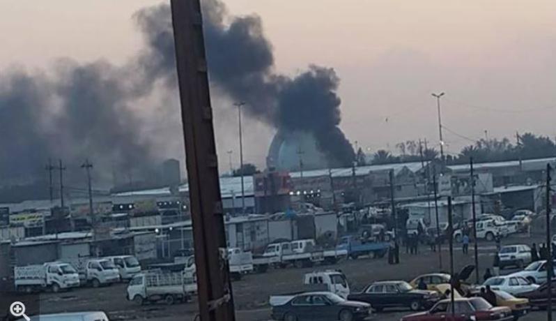 أكثر من مئة بين قتيل وجريح بانفجار جنوبي بغداد