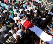 تشييع الشهيد الفتى محمد بدران في قرية بيت عور التحتا برام الله