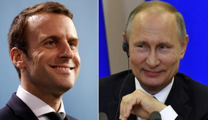 بوتين وماكرون