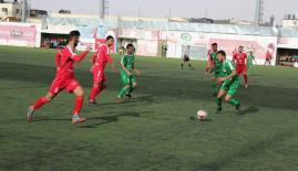 جانب من مباراة أهلي الخليل وشباب الخضر