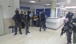 خلال إقتحام جيش الإحتلال الإسرائيلي لمستشفى المقاصد في القدس المحتلة