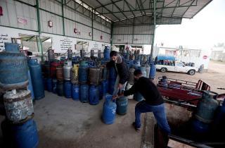 صورة لمحطة توزيع اسطوانات الغاز