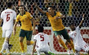 فرحة لاعبي أستراليا بالفوز