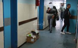 إستمرار معاناة أزمة النظافة في مستشفيات غزة
