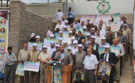 وقفة لنواب غزة تضامنا مع نواب الضفة المختطفين