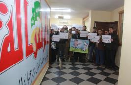 مؤسسة الرسالة تنظم وقفة تضامنية مع الصحفي الاسير محمد القيق