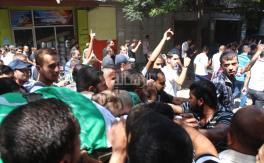 جماهير شمال غزة تشيع جثمان الشهيد الحناوي