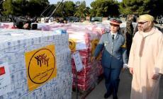 ملك المغرب يشرف على إرسال المساعدات