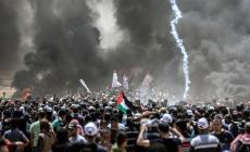 جانب من مسيرات العودة على حدود قطاع غزة - ارشيفية