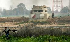 صورة من الحدود الشرقية لغزة