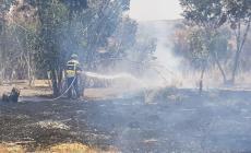 صورة من الحرائق التي ضربت غلاف غزة