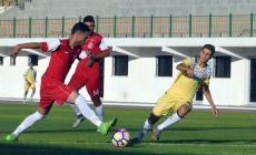 جانب من مباراة خدمات رفح وبيت حانون الأهلي