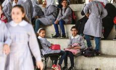 صل مليون وثلاثمئة ألف طالبة وطالبة فلسطيني أمس الأربعاء، إلى مقاعدهم الدراسية