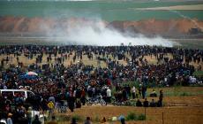 جانب من مسيرات العودة في غزة