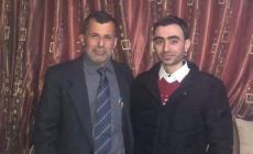 رياض شاهين، أستاذ التاريخ في الجامعة الإسلامية مع زوج ابنته