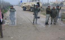 جنود مصرين على الحدود مع رفح