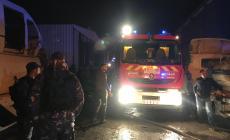 حريقا هائلا اندلع في مشطب مركبات بالمنطقة الصناعية