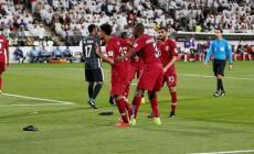 فرحة لاعبي قطر بالفوز