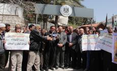جرحى بغزة يواصلون إضرابهم عن الطعام لقطع السلطة رواتبهم
