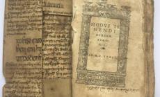 المخطوطة جزء صغير من مجلد القانون بالطب مترجماً إلى الأيرلندية