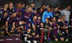 برشلونة فاز بالدوري الإسباني فقط