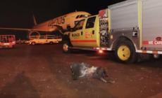 القصف على المطار تسبب بإصابة 26 شخصا وأحدث دمارا في مرافقه- تويتر