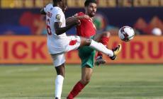 جانب من مباراة المغرب وناميبيا