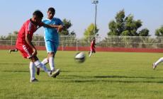 جانب من مباراة غزة الرياضي ونماء