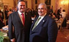 """اجتماع علني بين """"آل خليفة"""" ووزير إسرائيلي بواشنطن"""