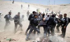 الاحتلال يهدم خيمة الاعتصام في وادي الحمص
